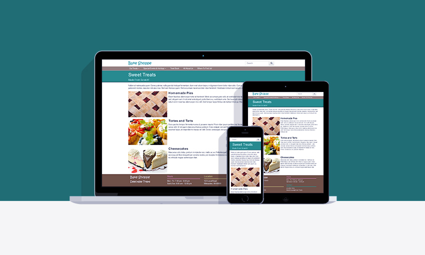 A responsive website created with Twitter Bootstrap