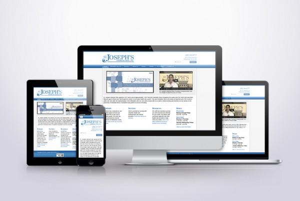 Screencaps of Saint Joseph's Medical Clinic's website