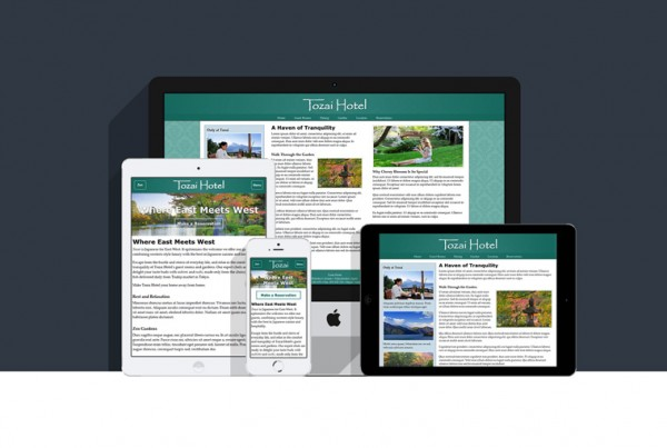 Responsive Tozai Hotel Website Built with Media Queries
